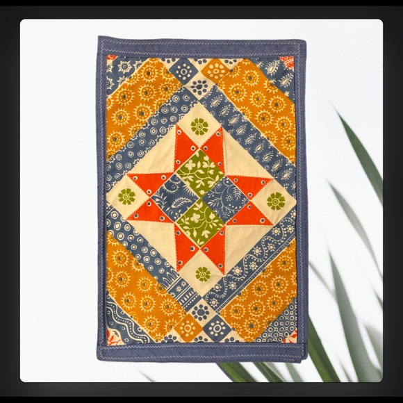 Vintage Quilted Boho Placement Table Mat Set of 6